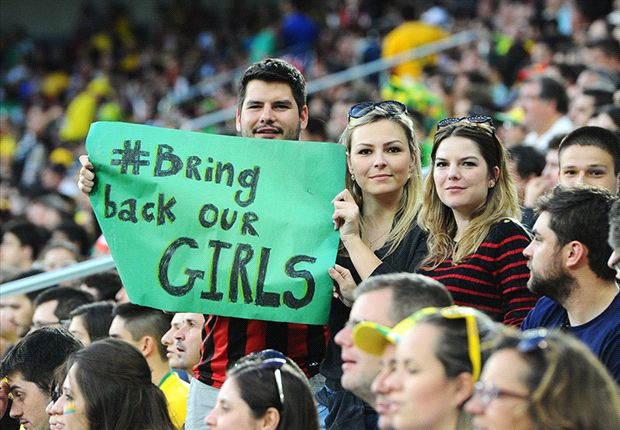 BringBackOurGirls makes it to the FIFA World Cup